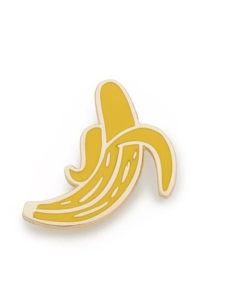 <p>Georgia Perry Banana Pin, $15, <span>shopbop.com</span> </p>
