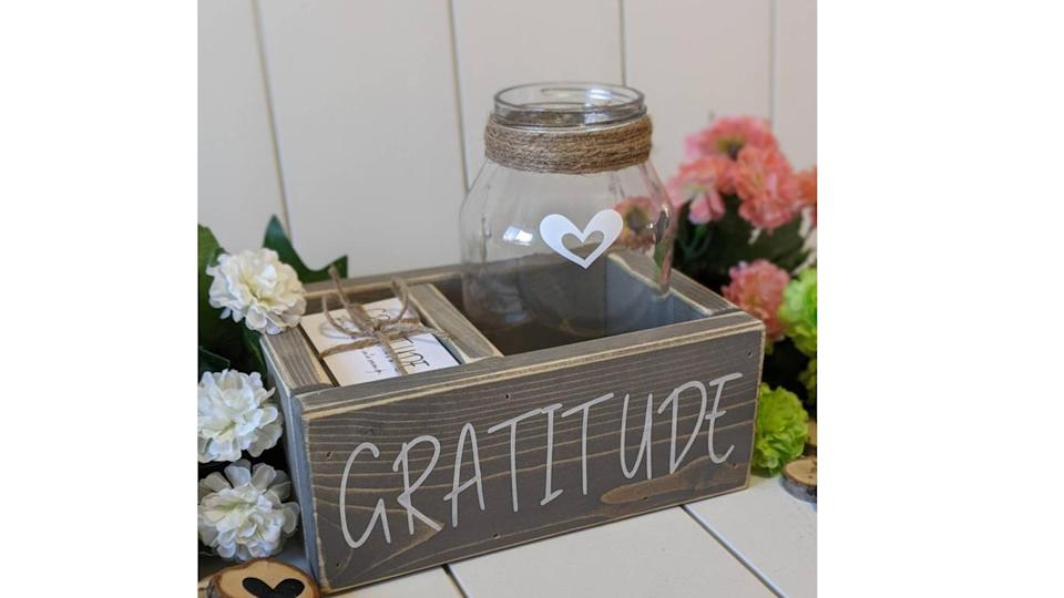 Gratitude kit: cards, jar, box. (Image via Etsy)