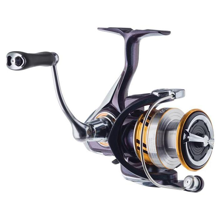 """<p><strong>Daiwa</strong></p><p>basspro.com</p><p><strong>$59.99</strong></p><p><a href=""""https://go.redirectingat.com?id=74968X1596630&url=https%3A%2F%2Fwww.basspro.com%2Fshop%2Fen%2Fdaiwa-regal-lt-spinning-reel&sref=https%3A%2F%2Fwww.popularmechanics.com%2Fadventure%2Foutdoor-gear%2Fg37171383%2Fbest-spinning-reels%2F"""" rel=""""nofollow noopener"""" target=""""_blank"""" data-ylk=""""slk:Shop Now"""" class=""""link rapid-noclick-resp"""">Shop Now</a></p><p><strong><strong>• Gear ratio: </strong></strong>6.2:1<br><strong>• </strong><strong>Weight: </strong>7.4 oz.<br><strong>• Size: </strong>8 lb./240 yards</p><p>While it makes sense to keep the cost of your first reel low while you evaluate if you are going to stick with fishing as a hobby, you actually don't want to go too cheap. A bad reel equals a bad time on the water, and problems with your line will drive beginners away from the sport since they don't have the skills (yet) to quickly resolve problems. A good balance of price to performance is ideal and for that we recommend the Daiwa LT (light but tough) reel, which offers smooth operation and spooling without breaking the bank.</p><p>The light weight and high-speed retrieval make for easier fishing for novices. And if you find that fishing isn't for you, Daiwa reels hold their value and you should be able to sell the reel for a decent price to an angler that knows what he's getting with the brand.</p>"""