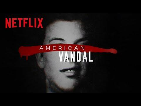 """<p>A satirical spin off the true-crime genre, <em>American Vandal</em> follows a high school student investigating the motives behind an expensive crime. Can he catch the murderer spray painter?</p><p><a href=""""https://www.youtube.com/watch?v=m3tkFOtM6go"""" rel=""""nofollow noopener"""" target=""""_blank"""" data-ylk=""""slk:See the original post on Youtube"""" class=""""link rapid-noclick-resp"""">See the original post on Youtube</a></p>"""