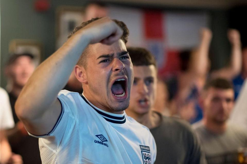 <p>Fans at the The Lord Stamford pub in Manchester went wild as England proved victorious in the penalty shootout. (Picture: Getty) </p>