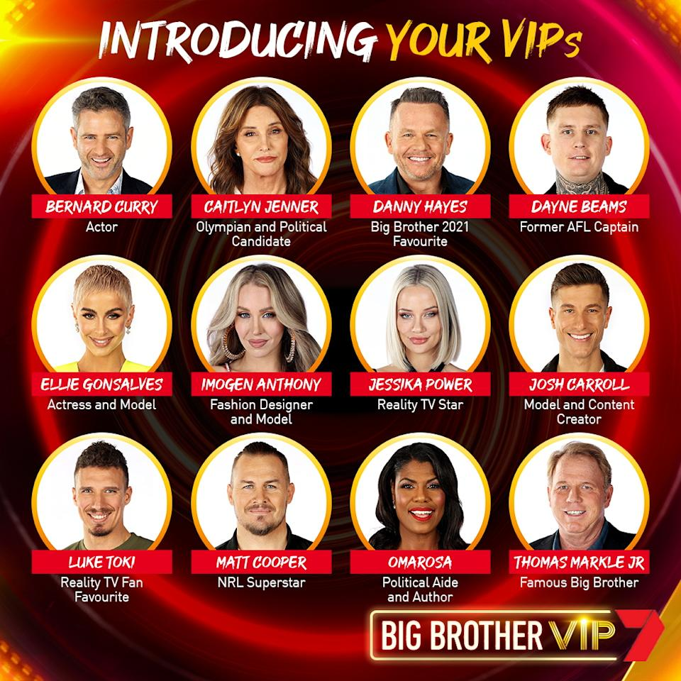 full line-up for Big Brother VIP 2021