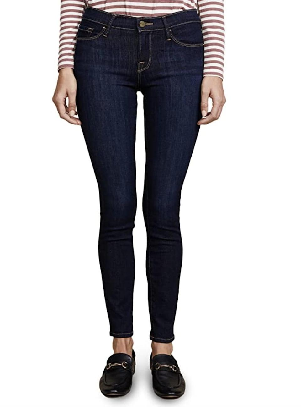 <p>We're into the fitted hem of these <span>Frame Le Skinny de Jeanne Jeans </span> ($199).</p>
