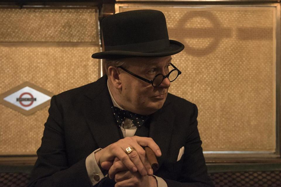 <p>Gary Oldman donned a foam bodysuit to play portly PM Churchill</p>Working Title Films