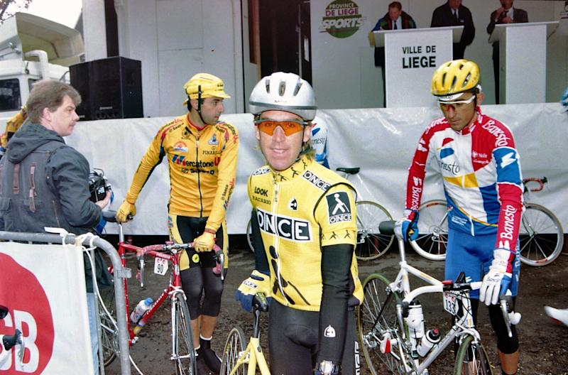 Neil Stephens ahead of the 1995 Liege-Bastogne-Liege.