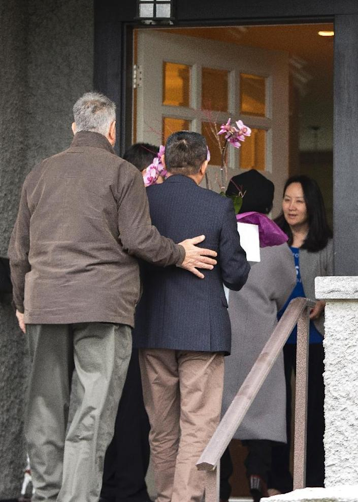 China-Canada tensions have spiked after the arrest of top Huawei executive Meng Wanzhou in Vancouver on a US request (AFP Photo/Jason Redmond)
