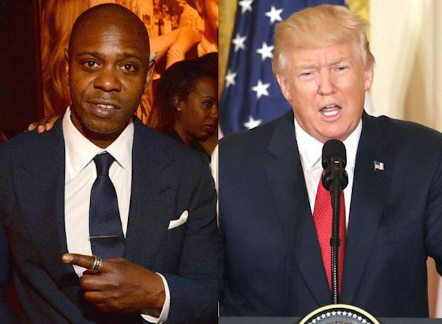 Dave Chappelle regrets wishing Donald Trump luck. (Photo: Getty Images)