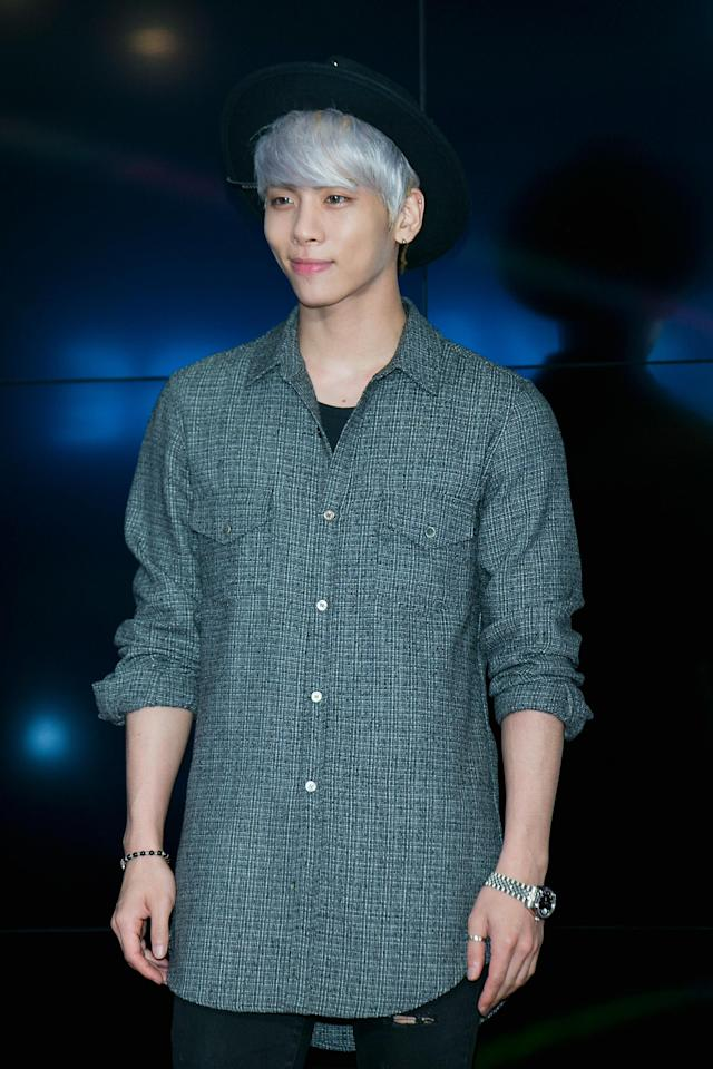 <p>The Korean pop star better known as Jonghyun was a member of the group Shinee. He died on Dec. 18 at age 27. (Photo: Han Myung-Gu/WireImage/Getty Images) </p>