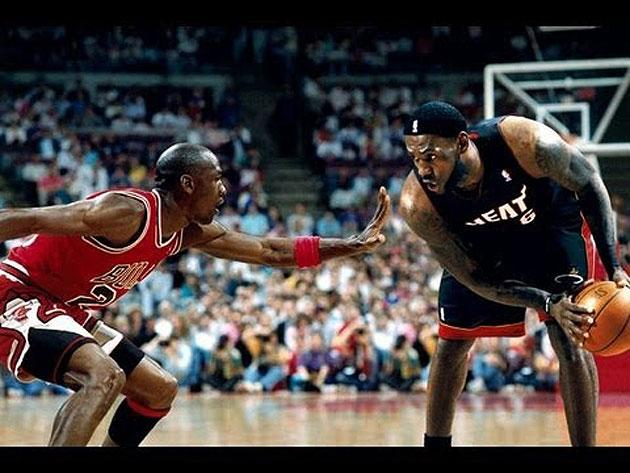 Of course LeBron James has a Photoshopped picture of him playing basketball against Michael Jordan as the wallpaper on his smartphone.