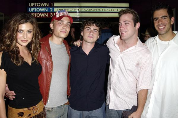 Cerina Vincent, Joey Kern, Rider Strong, James DeBello and Eli Roth at the 2002 Toronto Film Festival (Photo by J. Vespa/WireImage)