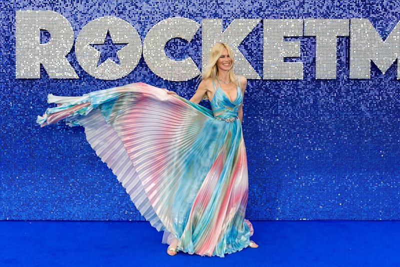Claudia Schiffer arrives for the UK film premiere of 'Rocketman' at Odeon Luxe, Leicester Square on 20 May, 2019 in London, England. (Photo by WIktor Szymanowicz/NurPhoto via Getty Images)