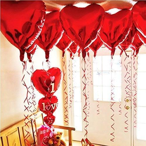 <p>Add some festive decor to your space with these <span>BinaryABC Foil Heart Balloons</span> ($9).</p>