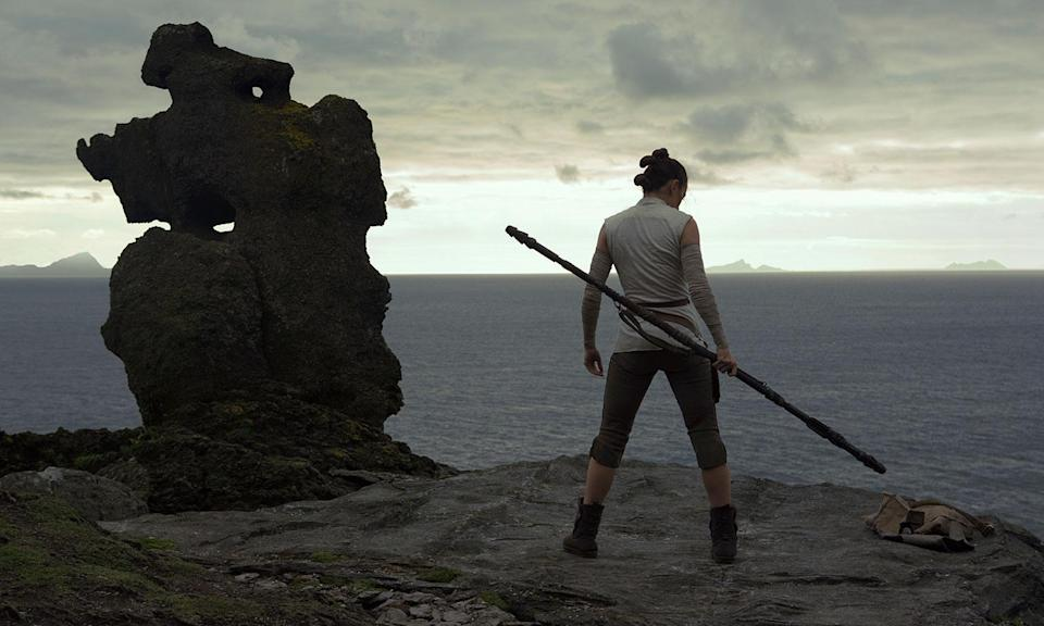 Daisy Ridley's Rey travels to Ahch-To to find Luke in <i>The Last Jedi</i> (Disney)