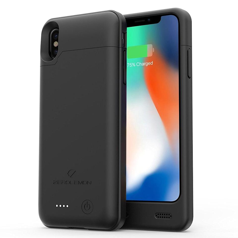 """<p>Get this <a href=""""https://www.popsugar.com/buy/iPhone-X-Battery-Case-494454?p_name=iPhone%20X%20Battery%20Case&retailer=walmart.com&pid=494454&price=40&evar1=geek%3Aus&evar9=26294675&evar98=https%3A%2F%2Fwww.popsugartech.com%2Fphoto-gallery%2F26294675%2Fimage%2F46729096%2FiPhone-X-Battery-Case&list1=shopping%2Cgadgets%2Choliday%2Cgift%20guide%2Choliday%20living%2Ctech%20gifts%2Cgifts%20under%20%24100&prop13=mobile&pdata=1"""" class=""""link rapid-noclick-resp"""" rel=""""nofollow noopener"""" target=""""_blank"""" data-ylk=""""slk:iPhone X Battery Case"""">iPhone X Battery Case</a> ($40) for the person who always needs a charge.</p>"""