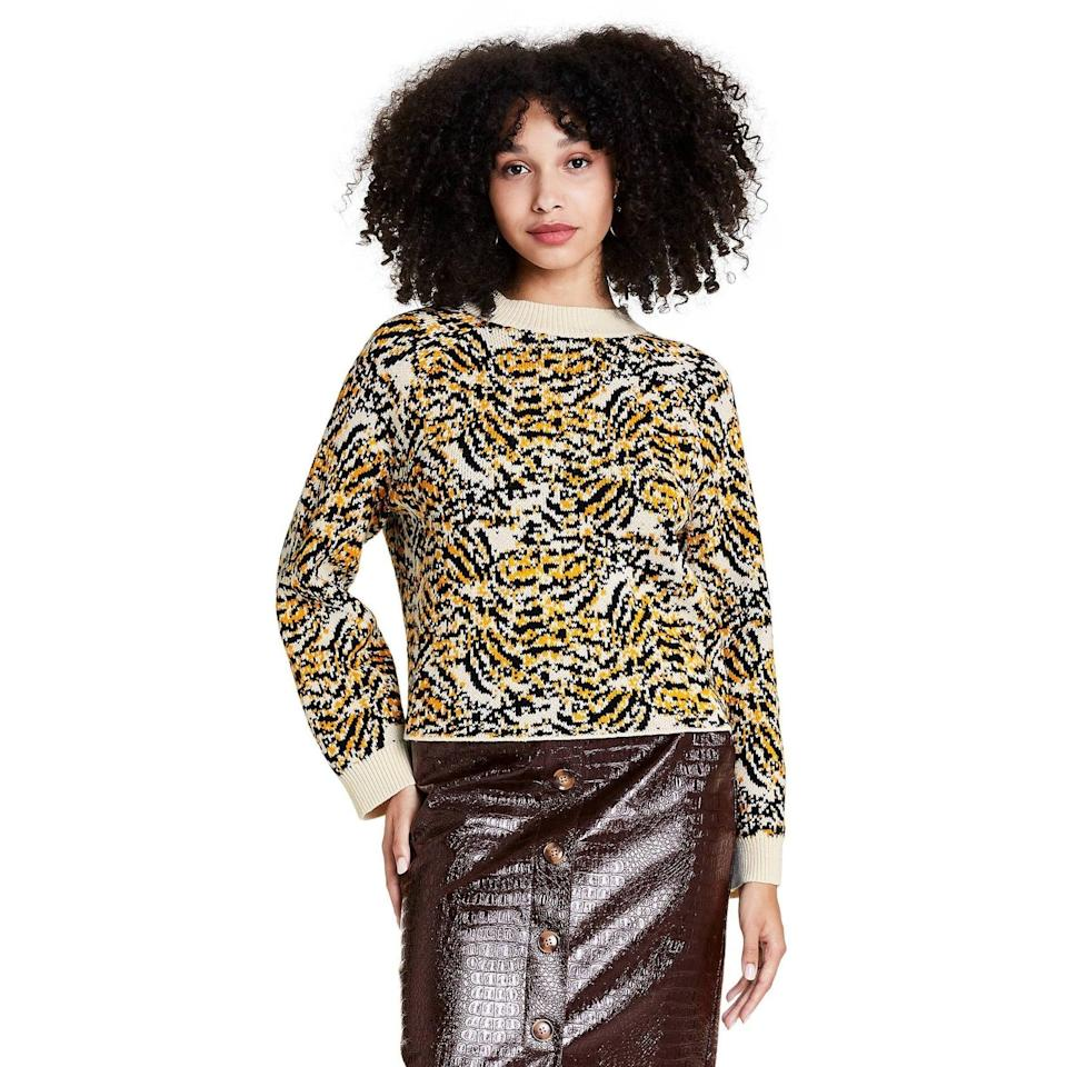 <p>A <span>Rachel Comey x Target Women's Animal Print Crewneck Pullover Sweater</span> ($45) offers a wildly chic take on this popular pattern (and it would look especially nice with leather pants or a skirt).</p>