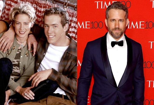 "<p>The comedy premiered with 18 million viewers and ran for four seasons, but aside from its kooky title — which was later shortened to <em>Two Guys and a Girl</em> when the titular pie joint was ditched in Season 3 — Ryan Reynolds is far and away the most memorable takeaway of the series. His Michael ""Berg"" Bergen was a slacker employee of Boston's Beacon Street Pizza, until he decided to go to medical school and start dating his best friend (the other of the ""two guys"") Pete's stalker. Bonus future star in the Season 1 cast: actress and screenwriter Jennifer Westfeldt. (Photo: 20th Century Fox/Everett Collection/Getty Images) </p>"