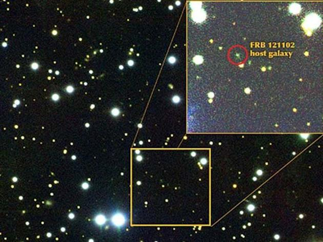 Scientists have pinpointed the FRB's host galaxy. Pic: Gemini observatory