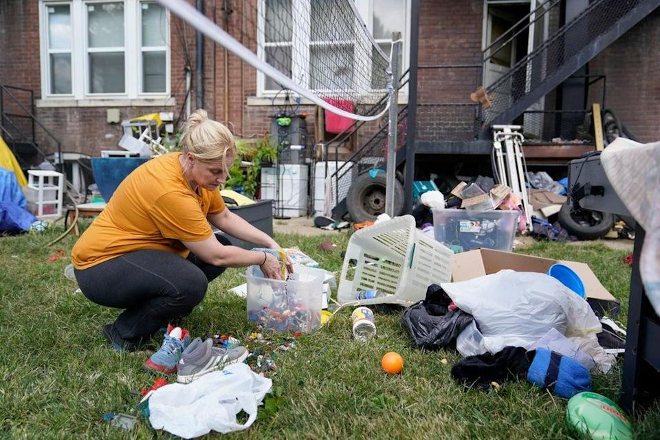 Eviction Moratorium St Louis Woman (Copyright 2021 The Associated Press. All rights reserved.)