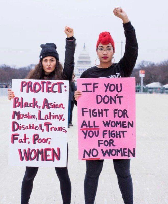 Rachel Cargle (right) withher friend Dana at the Women's March last year in Washington, D.C. (Photo: Kennedy Carroll)