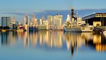 Image of HMS Argyll at the Excel Centre in London. This image was taken with a Neutral Density filter and long exposure (Picture: UK MOD/Crown 2019)
