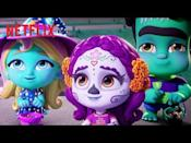 """<p>The Super Monsters are celebrating Halloween with Vida, and get invited to a Dia de Los Muertos party.</p><p><a class=""""link rapid-noclick-resp"""" href=""""https://www.netflix.com/watch/81021243"""" rel=""""nofollow noopener"""" target=""""_blank"""" data-ylk=""""slk:WATCH NOW"""">WATCH NOW</a></p><p><a href=""""https://www.youtube.com/watch?v=_ba0GukLjKU"""" rel=""""nofollow noopener"""" target=""""_blank"""" data-ylk=""""slk:See the original post on Youtube"""" class=""""link rapid-noclick-resp"""">See the original post on Youtube</a></p>"""