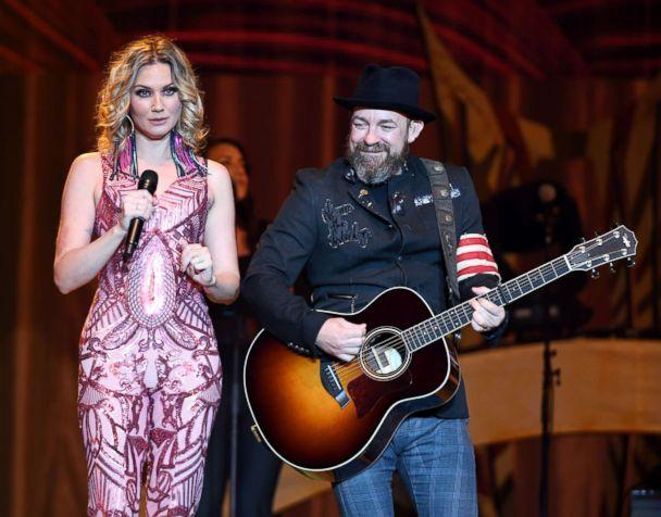 PHOTO: Jennifer Nettles and Kristian Bush of Sugarland perform during a stop of the duo's 'Still the Same Tour' in support of the new album 'Bigger' at the Mandalay Bay Events Center, June 16, 2018, in Las Vegas. (Ethan Miller/Getty Images)