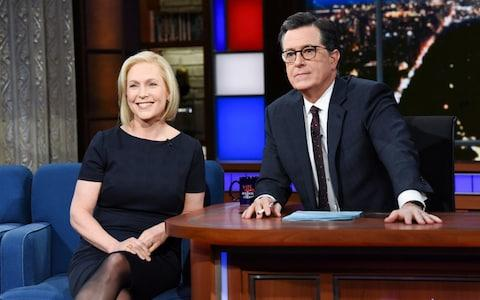 Senator Kirsten Gillibrand on the Late Show with Stephen Colbert in New York - Credit: Reuters