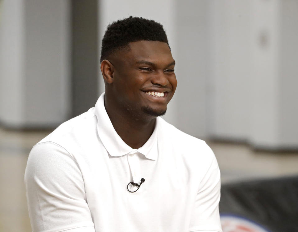 Zion Williamson is expected to be the first overall pick in the 2019 NBA draft on Thursday. (Getty)
