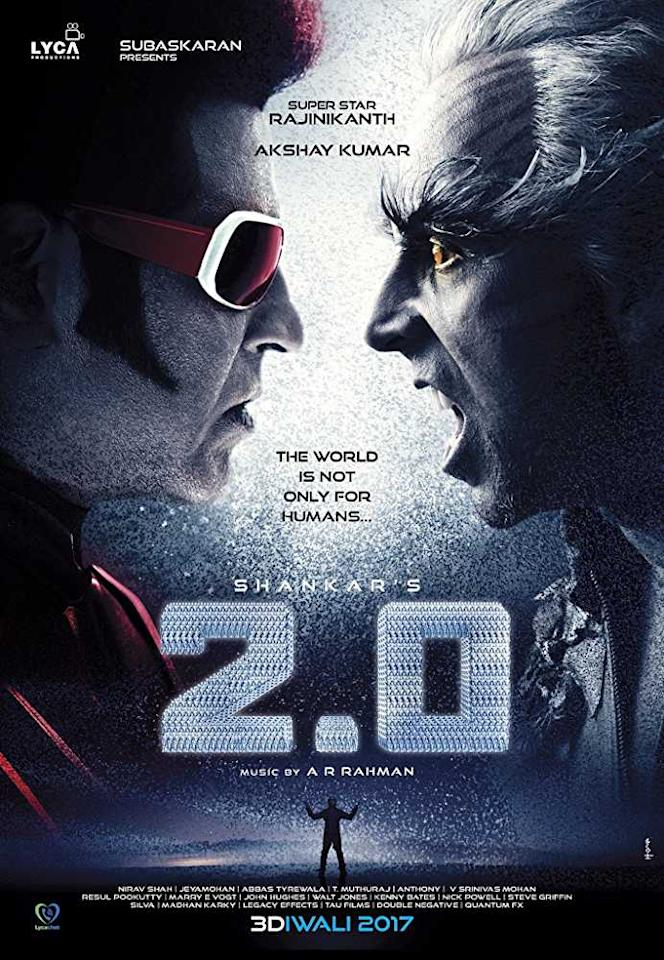 Technology is surely a boon but sometimes it can be a bane and it shows how an old man seeks revenge- a Rajnikath and Akshay Kumar starrer. It's a pure science fiction blended with an action movie and also we see Chitti in a positive avatar.