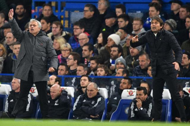 Manchester United's Jose Mourinho and Chelsea's Antonio Conte have repeatedly clashed (AFP Photo/Glyn KIRK )