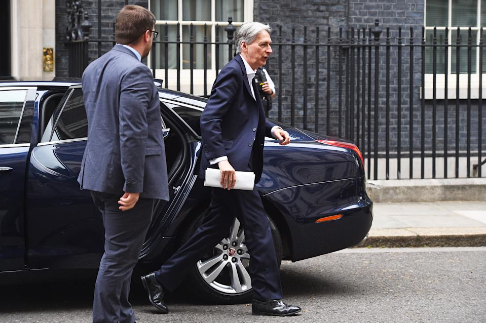 Chancellor Philip Hammond arrives for a cabinet meeting at 10 Downing Street, London.