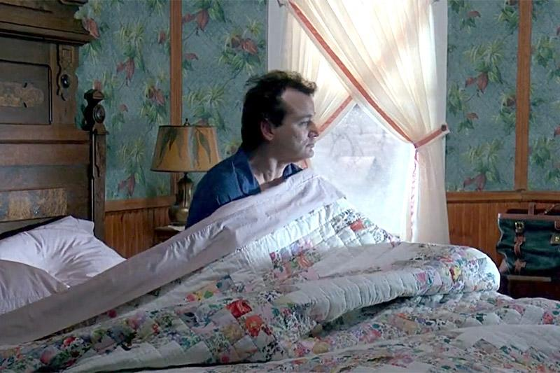 Bill Murray's Phil Connors wakes up in Groundhog Day. (Columbia Pictures)