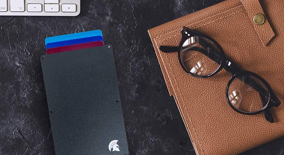 Protect your personal information with this clever slim wallet. (POWR)
