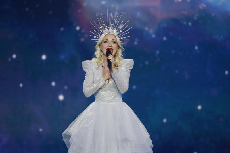 TEL AVIV, ISRAEL - MAY 18: Kate Miller-Heidke representing Australia, performs live on stage during the 64th annual Eurovision Song Contest held at Tel Aviv Fairgrounds on May 18, 2019 in Tel Aviv, Israel. (Photo by Michael Campanella/Getty Images)