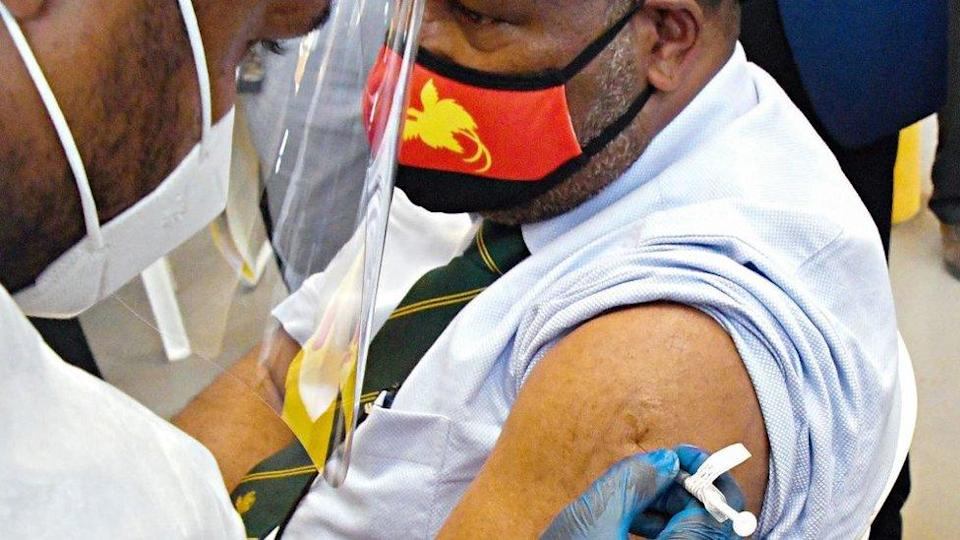 Papua New Guinea's Prime Minister James Marape is vaccinated