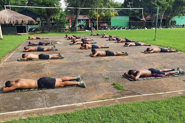 You are mine, sunshine: Indonesians have taken to soaking up the rays after unsubstantiated claims that the vitamin D sunlight provides can help ward off the coronavirus (AFP Photo/Handout)