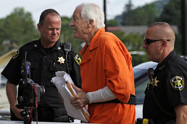 Former Penn State assistant Jerry Sandusky, was convicted on 45 counts in 2012. (AP)