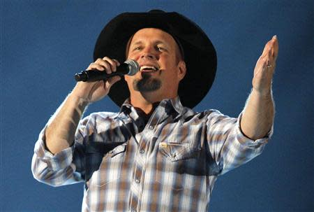 Garth Brooks sings at the 48th ACM Awards in Las Vegas