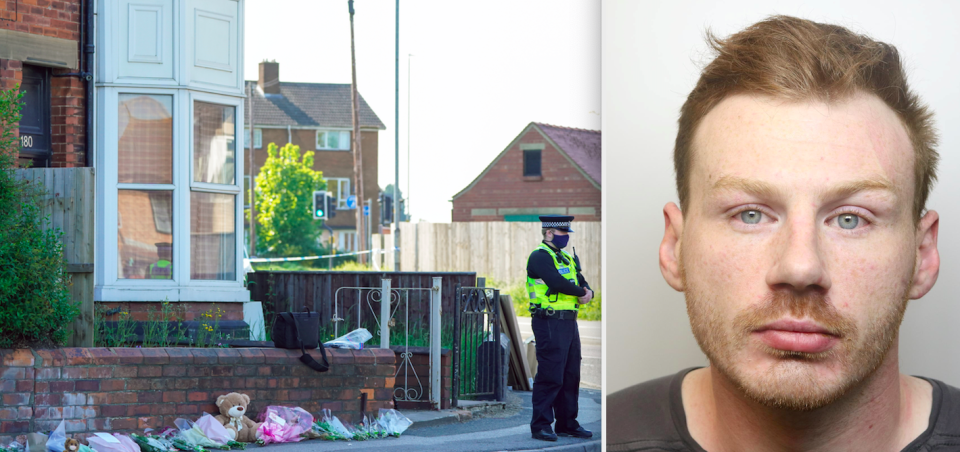 Daniel Boulton (right) has been arrested on suspicion of murder after Bethany Vincent and her son Darren Henson were found dead at a home in Louth (left). (PA/SWNS)