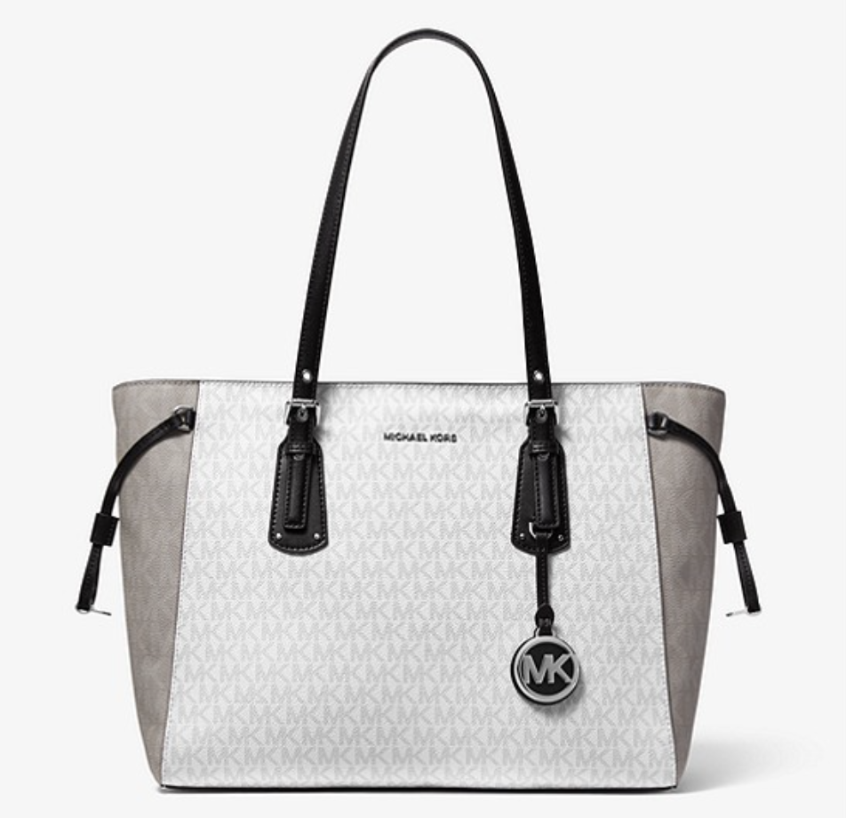 Voyager Medium Two-Tone Logo Tote Bag. (PHOTO: Michael Kors)