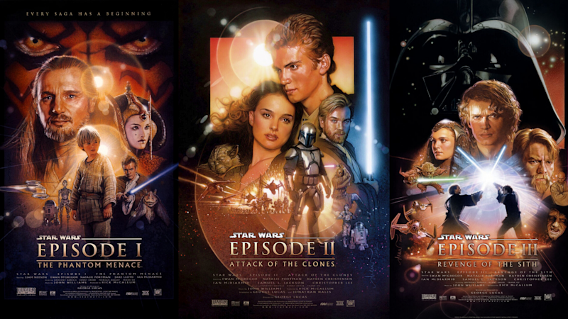 Star Wars Episodes I to III. Images via IMDB.