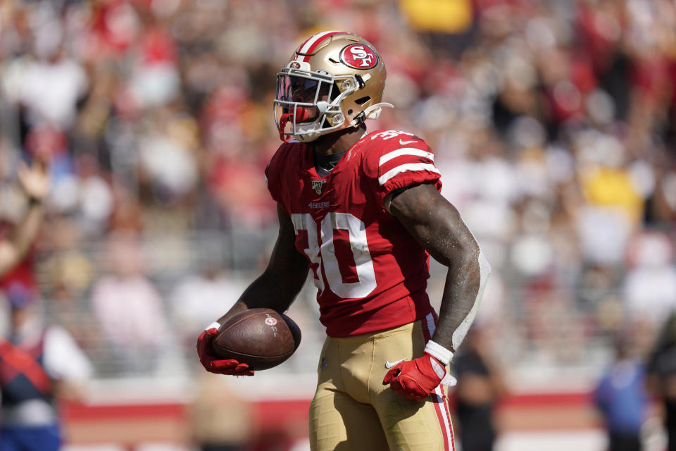 San Francisco 49ers running back Jeff Wilson Jr.