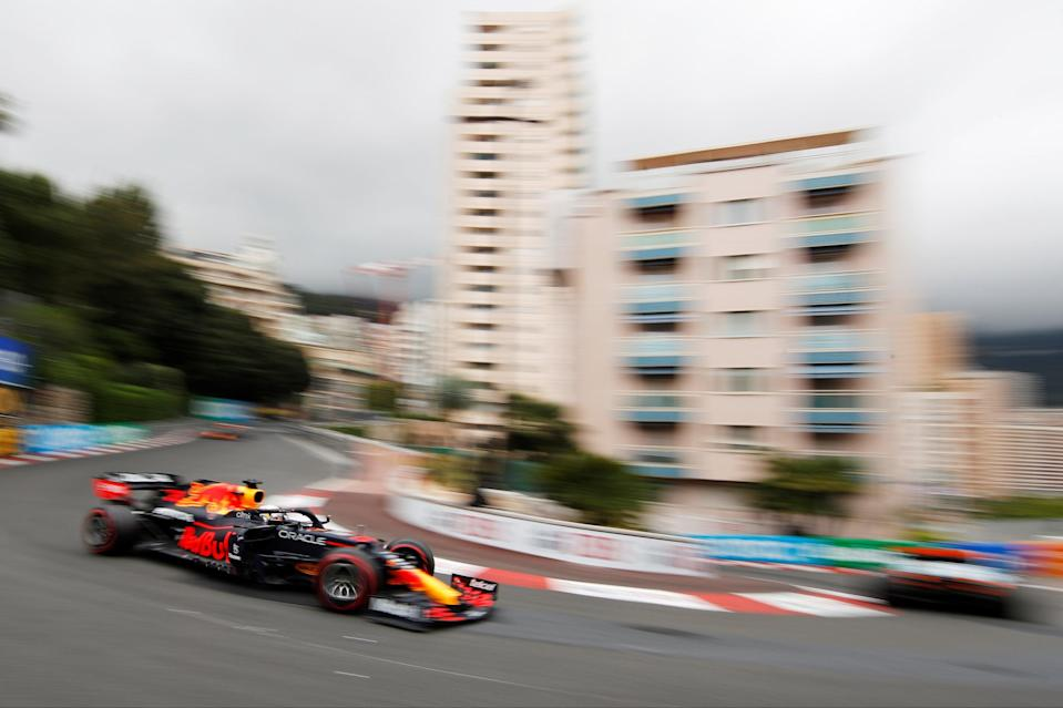 <p>Charles Leclerc is on pole position for Ferrari in Monaco</p> (REUTERS)
