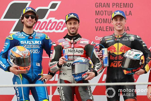 """1. Andrea Dovizioso <span class=""""copyright"""">Gold and Goose / Motorsport Images</span>"""