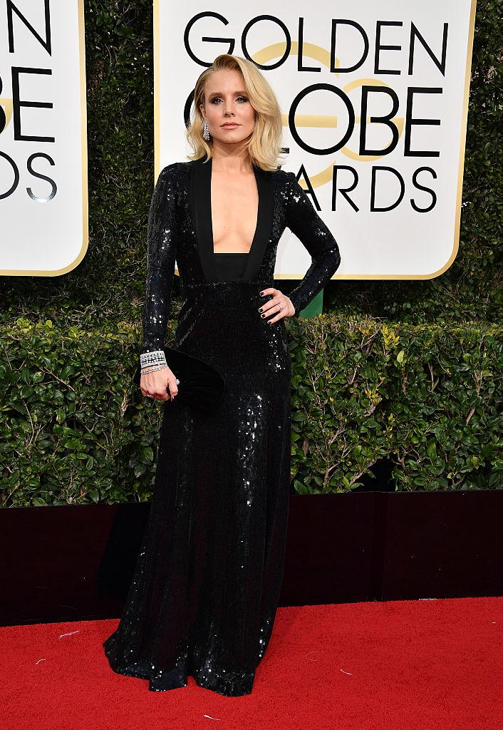 Kristen Bell in Jenny Packham. (Photo: Getty Images)