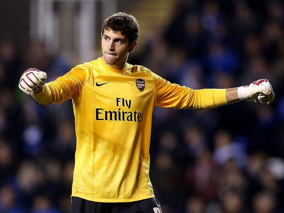 Martinez made his Arsenal debut in 2012Getty