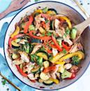 """<p>Chockfull of veggies and protein-rich chicken, this super quick and colorful stir fry cooks up in no time!</p><p> <strong>Get the recipe at</strong> <strong><a href=""""https://www.beautifuleatsandthings.com/2020/01/08/30-minute-caramelized-chicken-vegetable-stir-fry/"""" rel=""""nofollow noopener"""" target=""""_blank"""" data-ylk=""""slk:Beautiful Eats & Things"""" class=""""link rapid-noclick-resp"""">Beautiful Eats & Things</a>.</strong> </p>"""