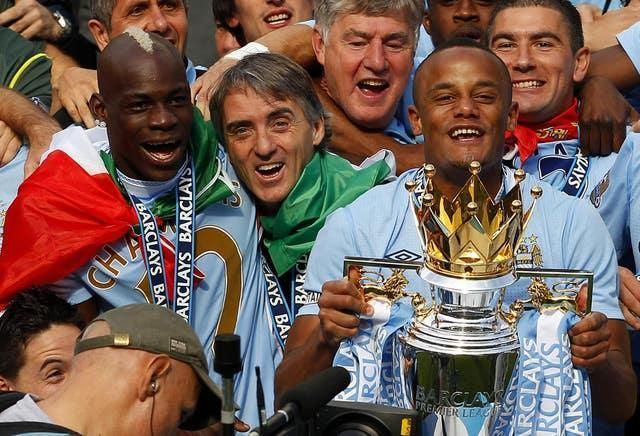 City's Premier League triumph under Mancini was their first top-flight title in 68 years (Dave Thompson/PA).