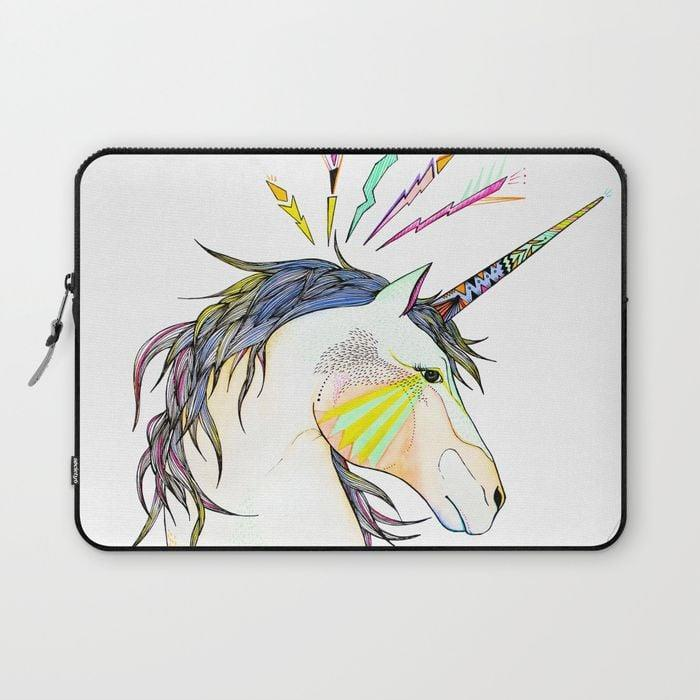 <p>Give your laptop a cute and comfy place to rest with this <span>Belén Segarra Unicorn Laptop Sleeve</span> ($31, originally $39).</p>