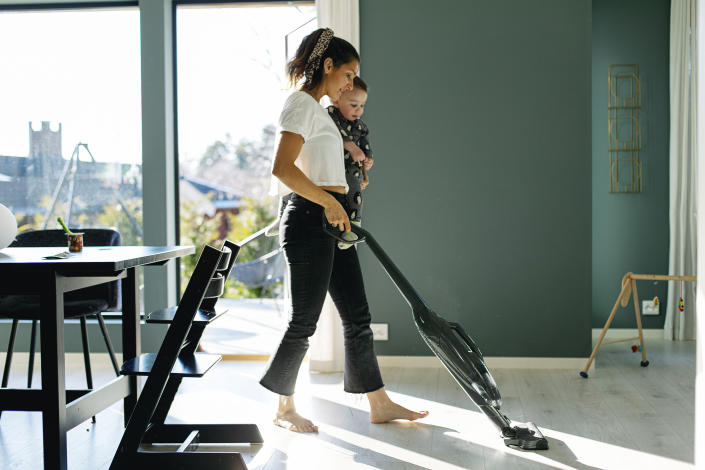 A cordless vacuum can make keeping a clean home easier than ever. (Image via Getty Images)